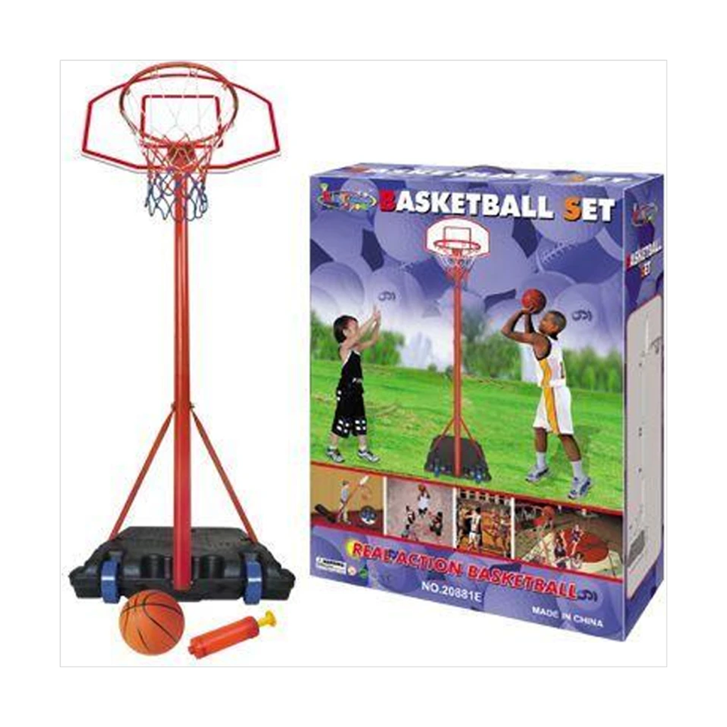 Adjustable Basketball Stand & Hoop Set