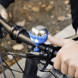 2 In 1 Bike Bell And Light, Blue - Kikkerland