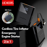 Licheers LC-302 Cordless Tire Inflator Car Emergency Engine Starter 8800mah Power Bank