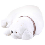 Faux Fur Sleeping Dog Decor White - Daweigao