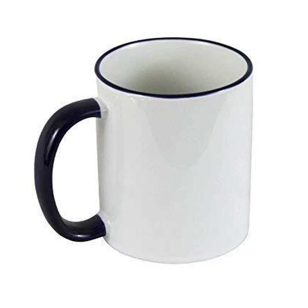 11oz Sublimation Rim & Handle Coloured Mugs (36 Pcs)