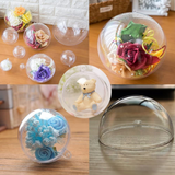 10 Clear Plastic Ball fillable Ornament favor 8Cm Dia - Willow