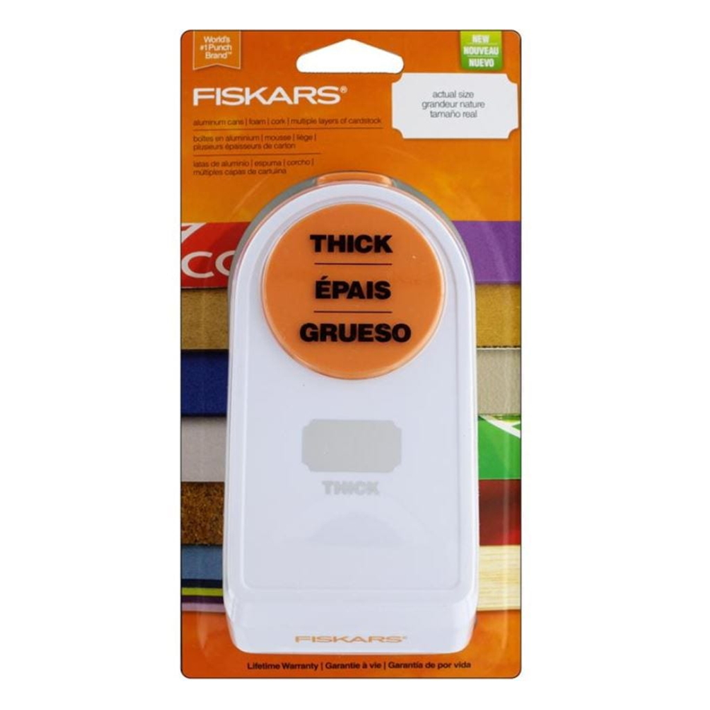 Fiskars 2 Inch Thick Punch - Label