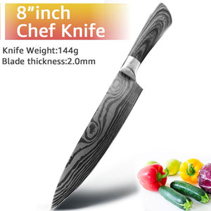 Kitchen Knife 5 7 8 inch 7Cr17 440C Stainless Steel