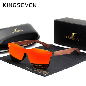 KINGSEVEN Natural Wooden Sunglasses Men Polarized