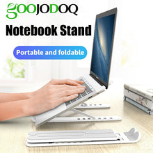 Load image into Gallery viewer, GOOJODOQ Adjustable Foldable Laptop Stand Non-slip Desktop Notebook Holder Laptop Stand For Macbook Pro Air iPad Pro DELL HP
