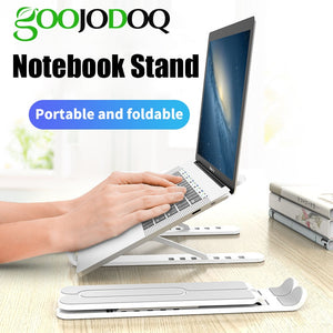 GOOJODOQ Adjustable Foldable Laptop Stand Non-slip Desktop Notebook Holder Laptop Stand For Macbook Pro Air iPad Pro DELL HP