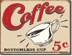 Coffee 5 Cents - Tin Sign