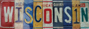 Wisconsin License Plate - Magnet