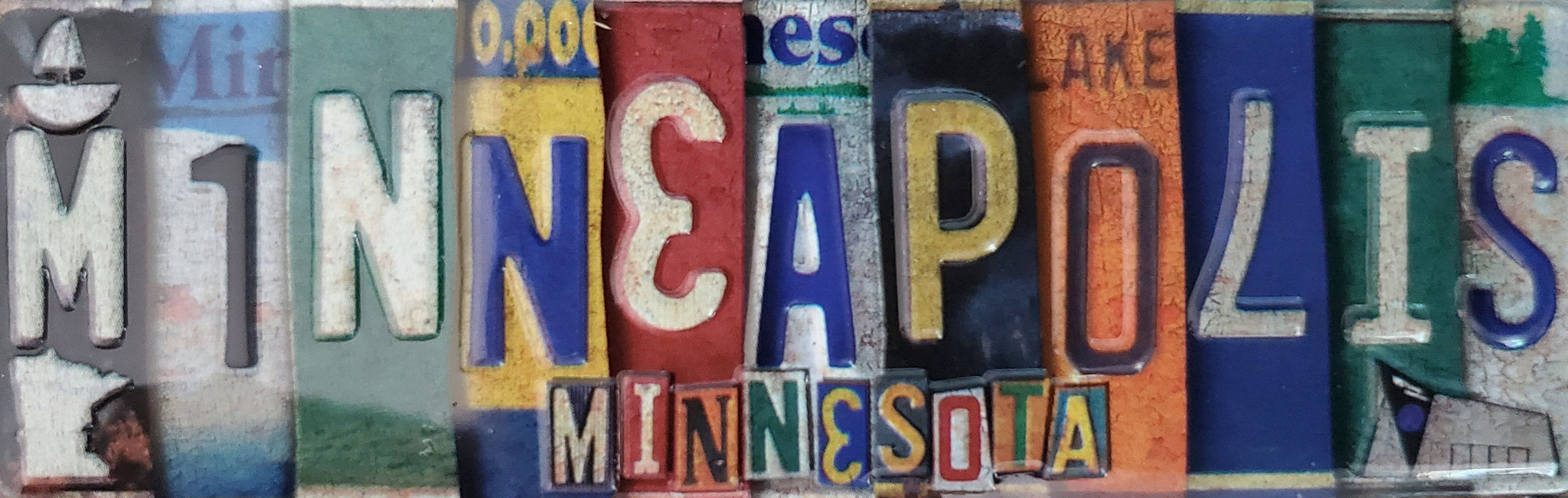 Minneapolis MN License Plate - Magnet