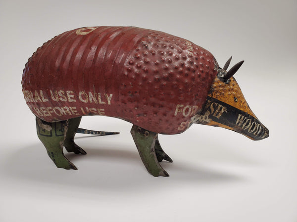Armadillo - Scrap Metal Figurine
