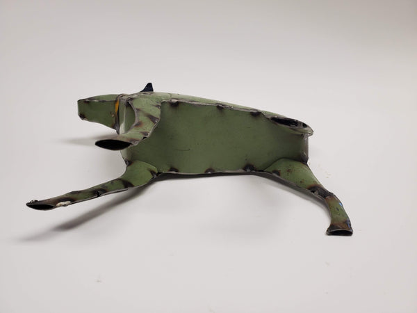 Green Dog - Scrap Metal Art