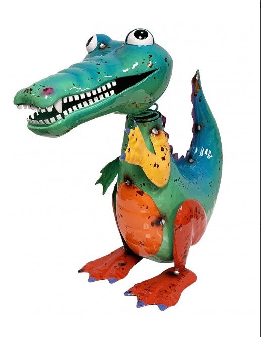 Standing Alligator - Scrap Art Figure