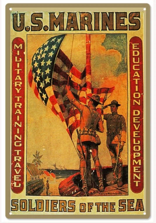 US Marine Soldier of the Sea - Tin Sign