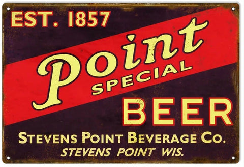 Point Special Beer - Tin Sign