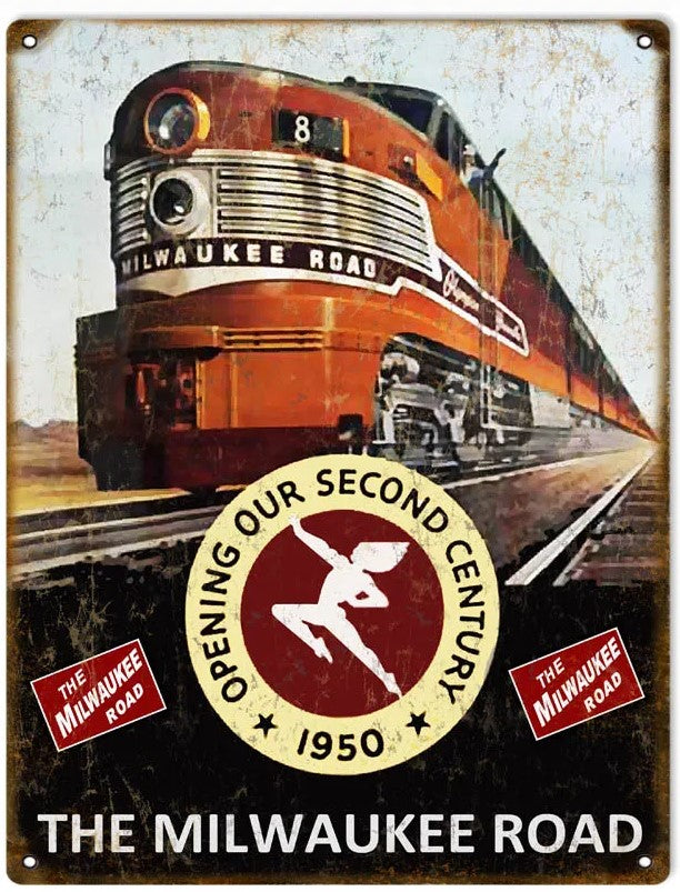 The Milwaukee Road 2nd Century - Tin Sign