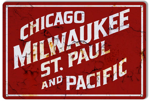 Chicago Milwaukee St Paul and Pacific Railroad - Tin Sign