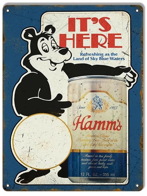 Hamm's Beer It's Here - Tin Sign