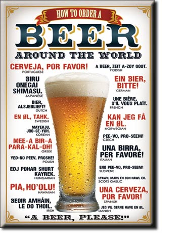 Beer -Around the World - Magnet