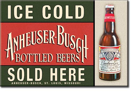 Beer - Budweiser Ice Cold - Magnet