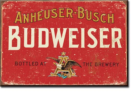 Beer - Budweiser Weathered - Magnet