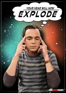 Big Bang - Sheldon Head Explode - Magnet