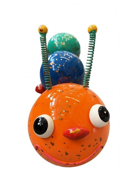 Caterpillar Scrap Art Figure - Orange Head