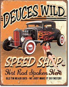 Deuces Wild Speed Shop - Magnet