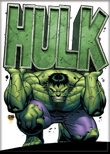 Incredible Hulk - Hulk Holding Name - Magnet