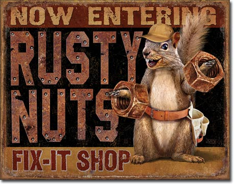 Rusty Nuts Fix It - Magnet