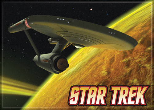 Star Trek - Enterprise on Yellow - Magnet