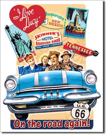 I Love Lucy - On the Road - Tin Sign