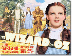 Wizard of Oz Yellow Brick Road - Tin Sign