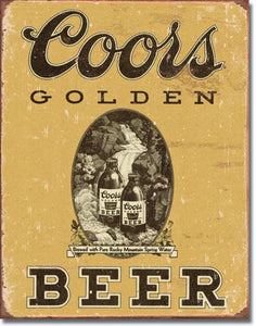 Coors Golden Vintage - Tin Sign
