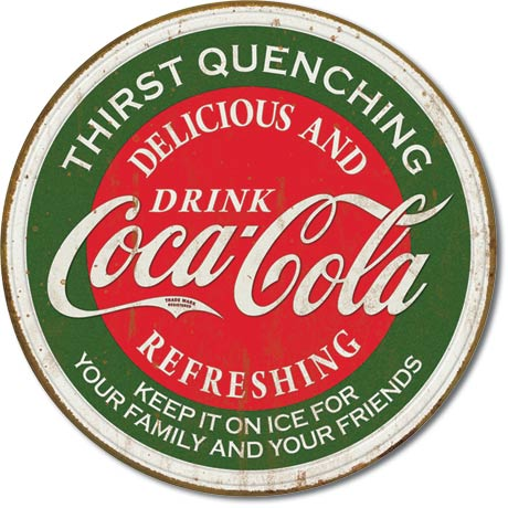 Coke Thirst Quenching - Tin Sign