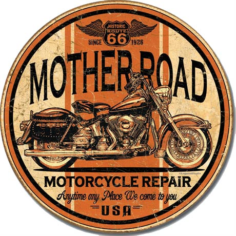 Mother Road Motorcycle Repair - Tin Sign