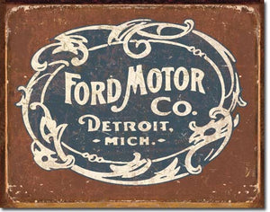 Ford Historic Logo - Tin Sign
