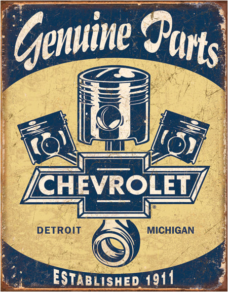 Chevrolet Parts - Tin Sign