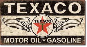 Texaco Winged Logo - Tin Sign