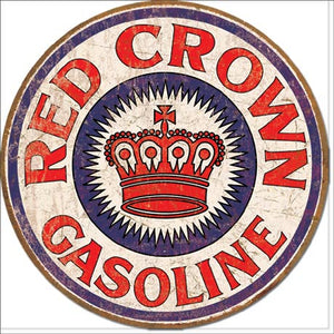 Red Crown Gas - Tin Sign