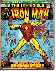 Ironman Comic Cover - Tin Sign