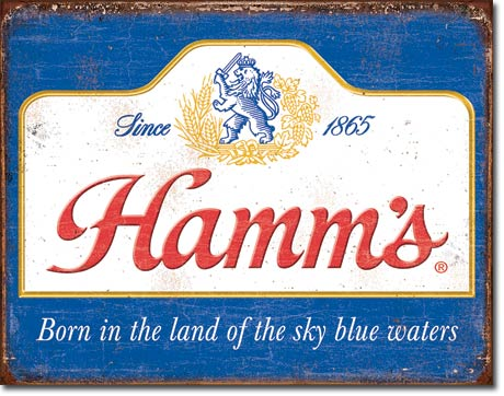 Hamm's - Sky Blue Waters - Tin Sign