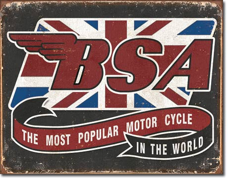 BSA Motorcylce - Tin Sign