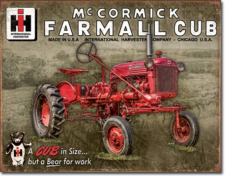 Farmall Cub - Tin Sign