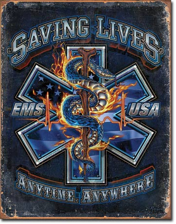EMS Saving Lives - Tin Sign