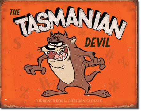 Tasmanian Devil - Tin Sign