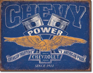 Chevy Power - Tin Sign
