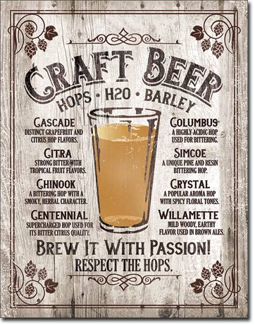 Craft Beer - Tin Sign