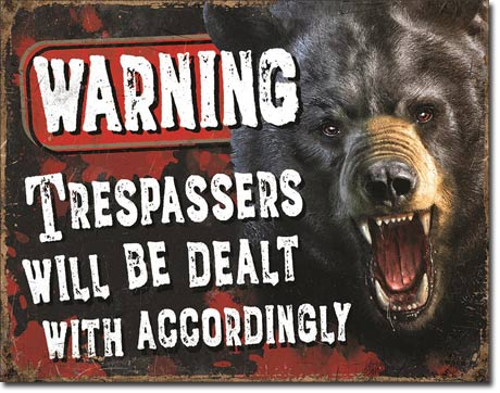 Trespasses Warning - Tin Sign