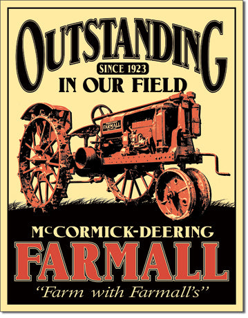 Farmall Outstanding - Tin Sign